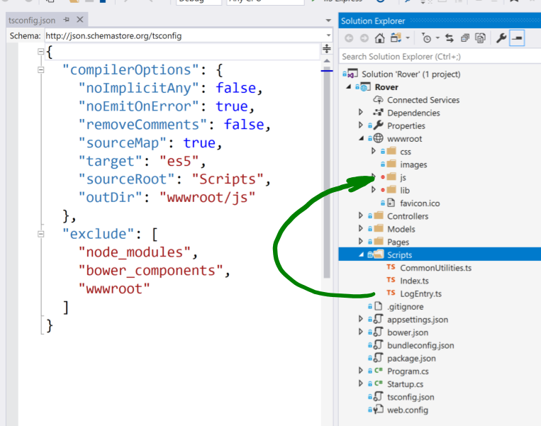 Adding a TypeScript Task to a TFS 2017 Build for ASP.NET Core